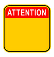 sticker attention safety sign vector image vector image