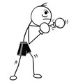 stickman cartoon of boxer with boxing gloves vector image