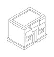 store front outline isometric drawing vector image