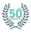 Template Logo 50 Anniversary in Laurel Wreath vector image