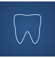 Tooth line icon vector image