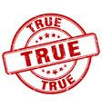 true red grunge round vintage rubber stamp vector image vector image