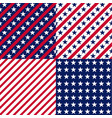 us stars and stripes seamless patterns vector image vector image