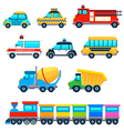 Vehicles vector image