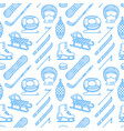 winter sports blue colored seamless pattern vector image vector image
