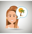 woman tourist travel beach vacation vector image vector image