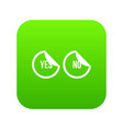 yes and no buttons icon digital green vector image vector image
