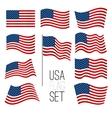United States flag set vector image