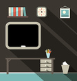 Studying Room with Blackboard and Table vector image