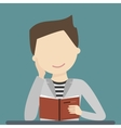 Man Reading Book vector image