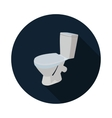 flat icon toilet 3d vector image