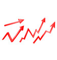 3d bright graph arrows set grow vector image vector image