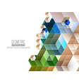 abstract geometric background with triangles and vector image vector image