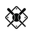 baseball bats and ball on field vector image