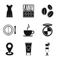 beautiful appearance icons set simple style vector image vector image