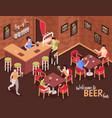 beer bar isometric vector image