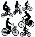 Bicycle Ride Silhouettes vector image