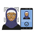 biometrical identification face recognition vector image vector image