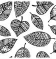 Black line graphic leaf seamless pattern pr