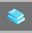 books info set icons closeup vector image