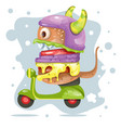 burger mascot character design vector image