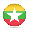 button with flag of Myanmar Burma vector image vector image