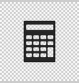 calculator icon isolated on transparent background vector image