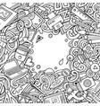 cartoon doodles design card artistic funny vector image vector image
