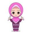cartoons muslim women caring for teeth daily vector image vector image