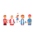 character old man child young man woman vector image