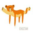 cheetah africa originating animal sleeping on vector image