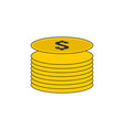 coin stack outline icon vector image