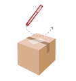 Correct Cutting Procedure to Open A Cardboard Box vector image