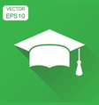 diploma student cap icon business concept finish vector image vector image