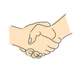 Drawing of handshake vector image vector image