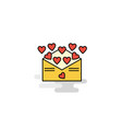 flat love letter icon vector image vector image