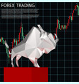 forex trading with bull vector image vector image