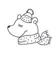 funny teddy bear nursery art minimalist vector image
