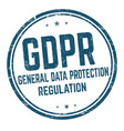 general data protection regulation sign or stamp vector image