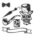 gentleman elements for creating your own logos vector image