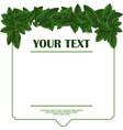 green leaf frame template vector image vector image