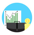 growth of exchange trend icon app vector image vector image