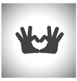 hand love symbol vector image vector image