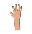 human hand showing five finger icon vector image vector image
