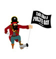 international talk like a pirate day pirate hook vector image
