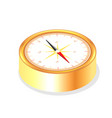 isolated realistic golden color metallic compass vector image