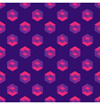 isometric seamless pattern with cubes vector image