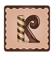 letter k candies vector image vector image