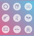 lifestyle icons line style set with anime beading vector image
