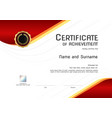 luxury certificate template with elegant border vector image vector image